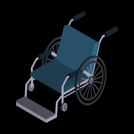 Wheelchair isometric icon Illustration