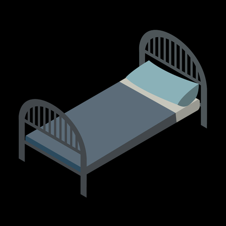 sleeper: Bed isometric icon