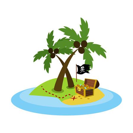pirate flat icon Illustration