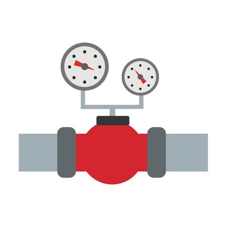 drill: Oil industry flat icon Illustration