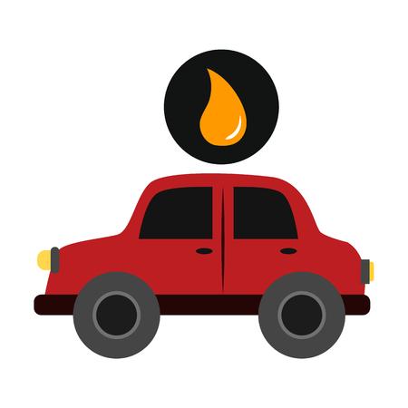 Oil industry flat icon Иллюстрация
