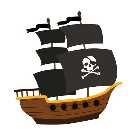 pirate icône plat