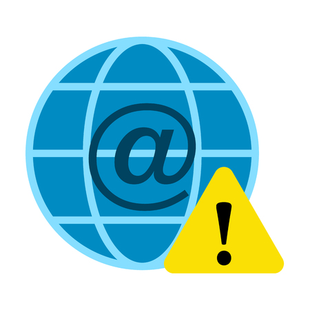 Cyber security flat icon Illustration
