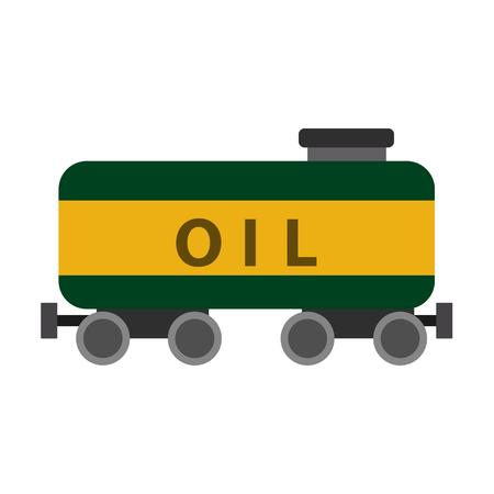 Oil industry flat icon Illustration