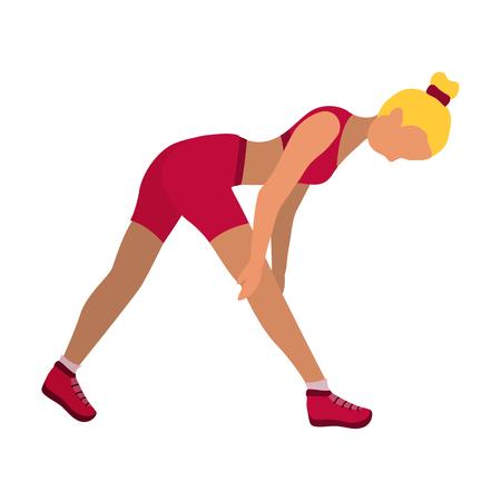 sports equipment: Fitness girl icon. Illustration