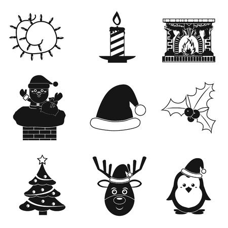 christmas gift: Christmas icon set. Illustration