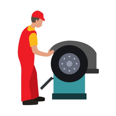 car wash: car service flat icon Illustration