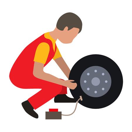 car service flat icon Illustration