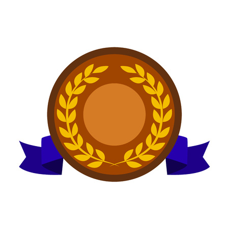 Award and cup flat icon