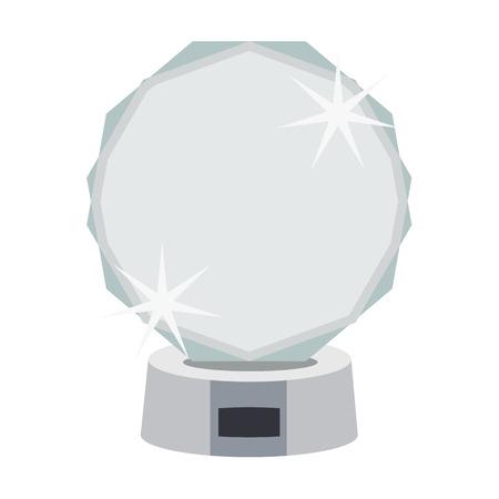 Award und Tasse flache Ikone. Illustration