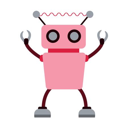 Robot and robotics flat icon