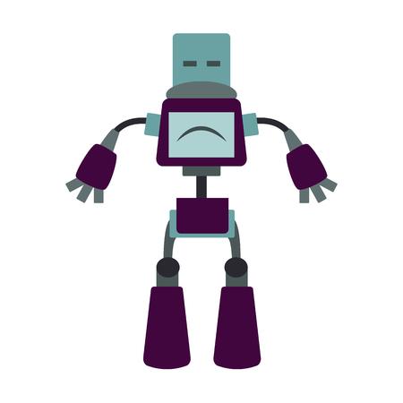 Roboter und Robotik flache icon Illustration