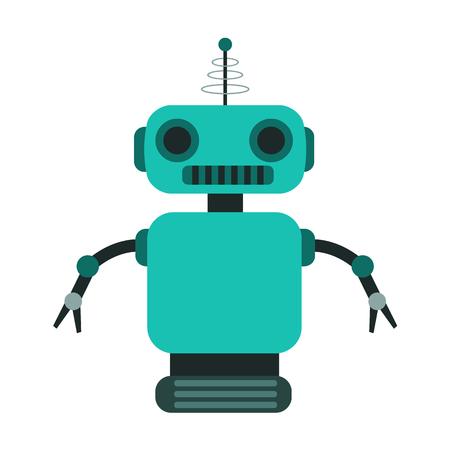 Robot et robotique icône plate Banque d'images - 88303564