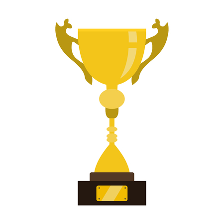 Award und Tasse flache icon Illustration