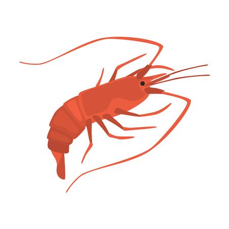 Ein flacher Ikonensatz der Meeresfrüchte