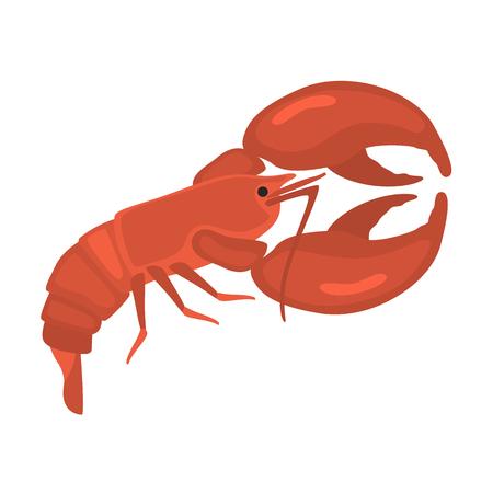 Meeresfrüchte flache Icon-Set Illustration