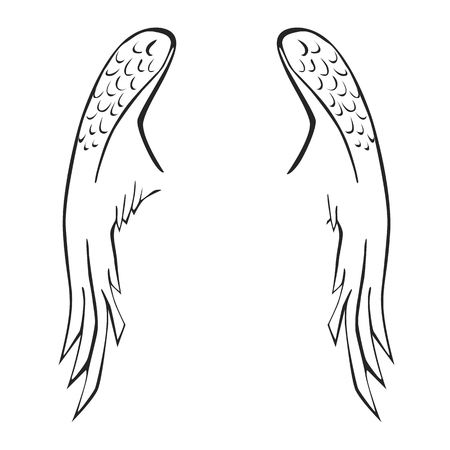 Wing egyszerű ikon a sima háttéren. Illusztráció