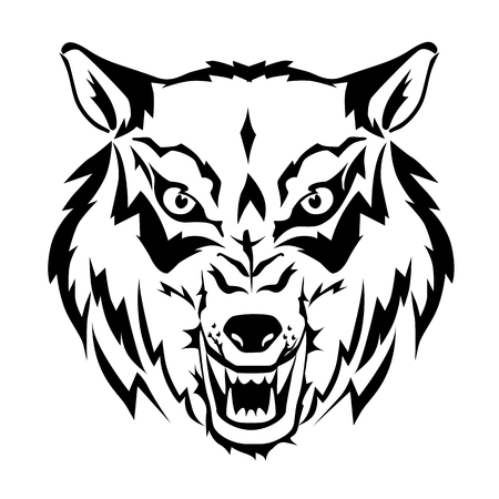Wolf simple icon on plain background.