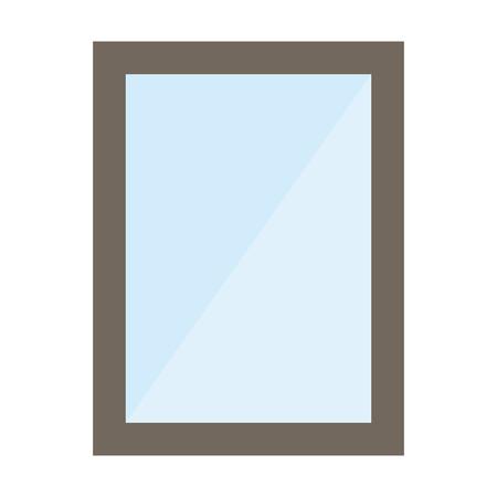 A fali tükör színes sík a sima háttéren.