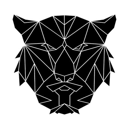 Tigris sokszög egyszerű ikon a sima háttérben.