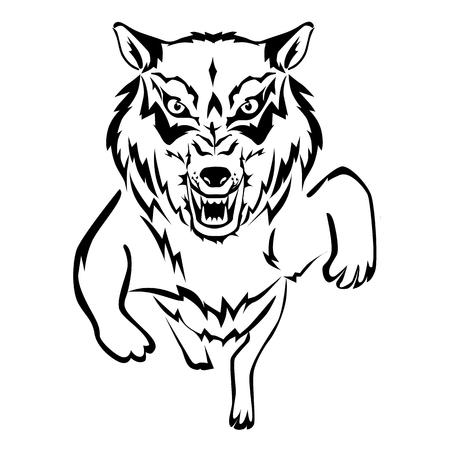 Wolf egyszerű ikon a sima háttérben.