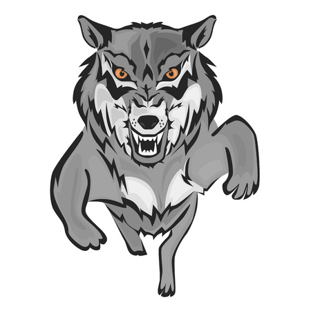Wolf sima színű sima háttér.