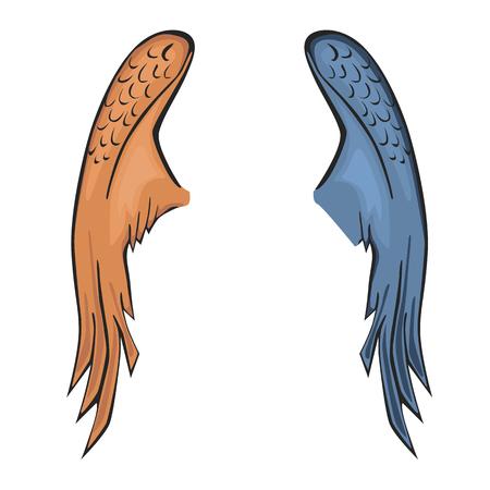 A szárny színes sík a sima háttéren.