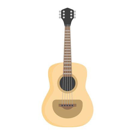 Classical guitar color flat. Illusztráció