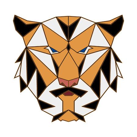 Tigris sokszög egyszerű ikon