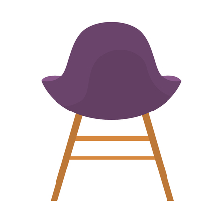 Chair color flat illustration. Illustration