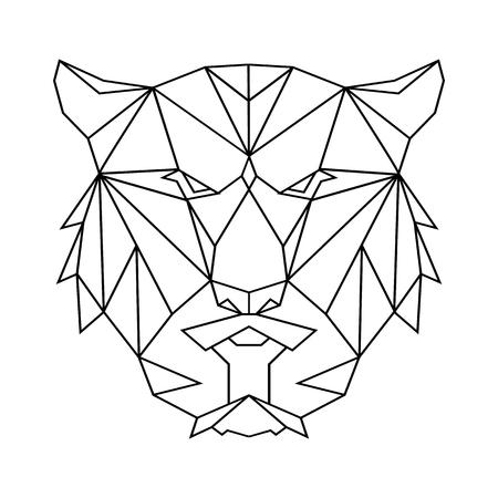 Tiger polygon simple icon. Illusztráció