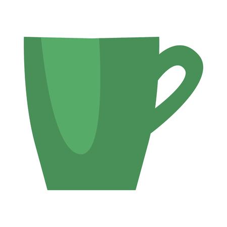 Cup color flat design.