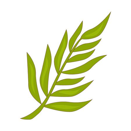 Tropical leaf color flat design.