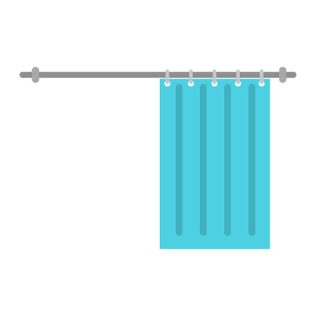 Shower curtain color flat design. Illusztráció