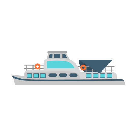 Water transport color flat icon