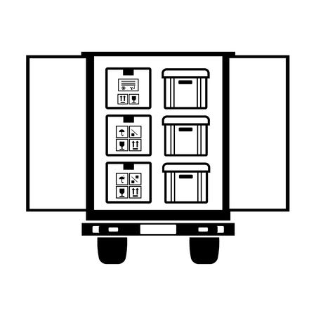 Box line simple icon Vector illustration. Ilustrace