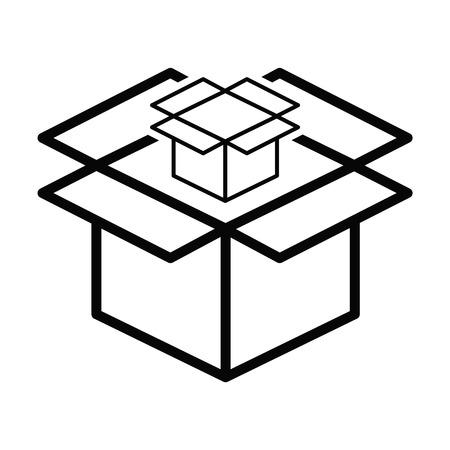 Box line simple icon vector illustration Ilustrace