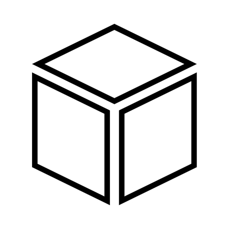 Box line simple icon Vector illustration.