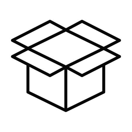 Box line simple icon Vector illustration. Illustration