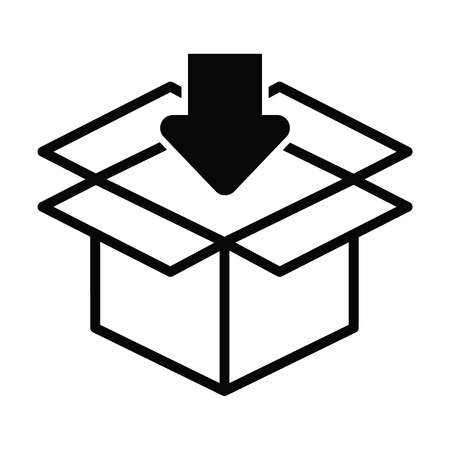 Box line simple icon Vector illustration. Ilustração