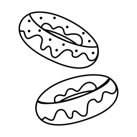 Donut, Fast food line simple icon.