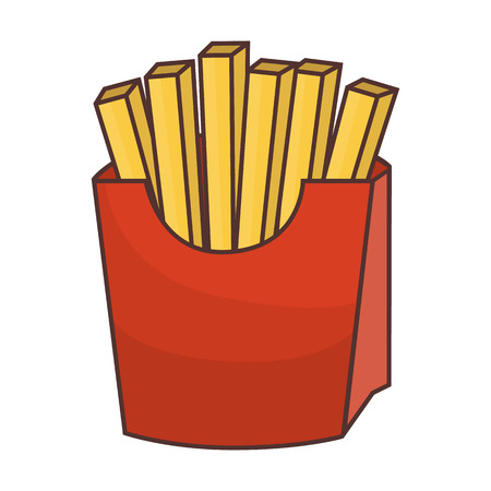 French fries colored illustration.
