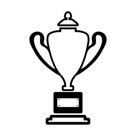 Trophy line simple icon.