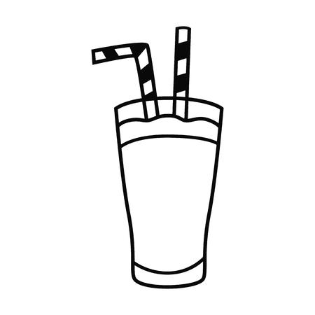 Drinks line simple icon. Illustration