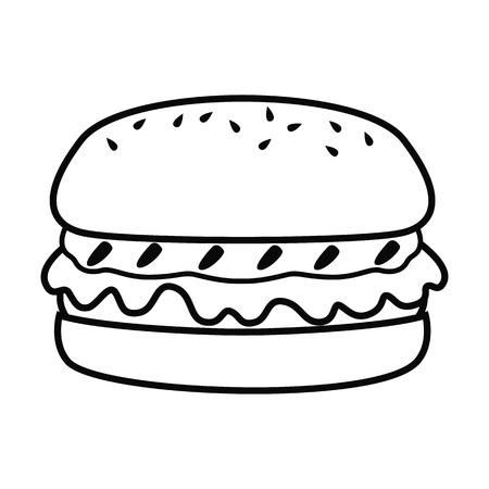Burger line simple icon.