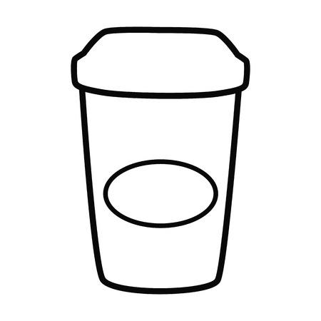 Beverage line simple icon.