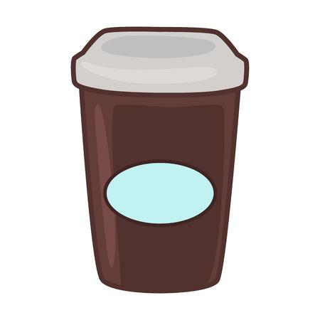 Fast drink flat icon Illustration