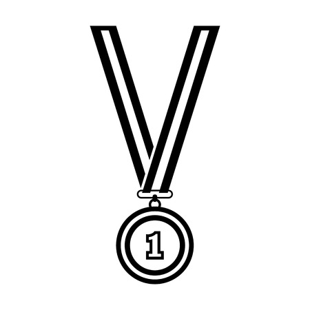 Award line simple icon