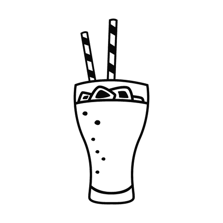 Fast drink line icon