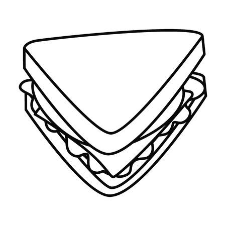 Fast food line sandwich icon